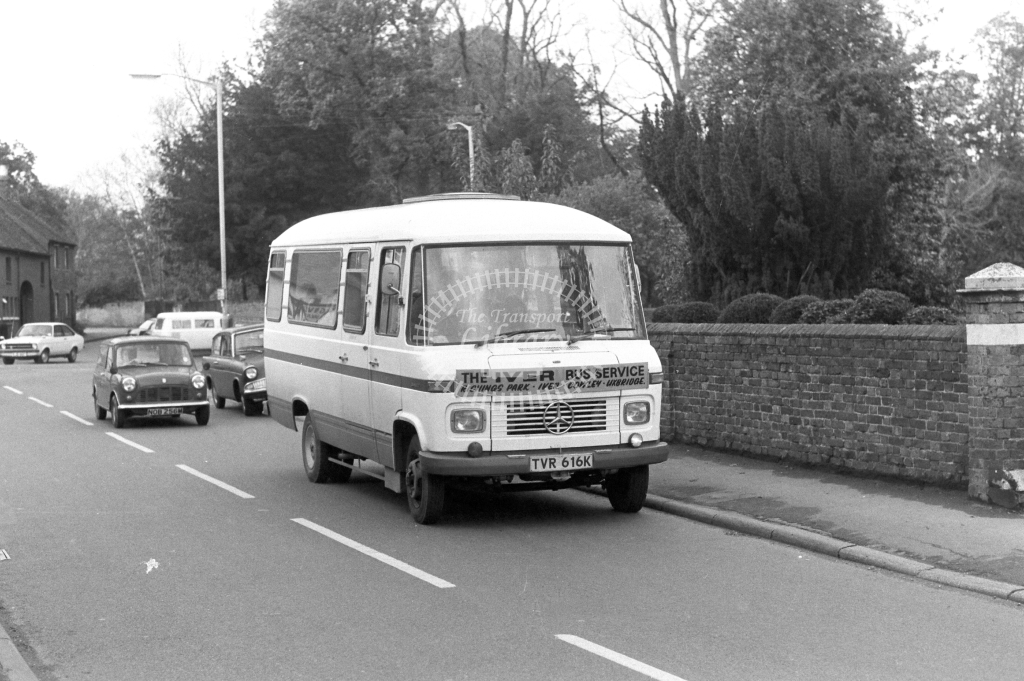 Iver Bus Service Mercedes TVR616K in 1977 - JGS Smith