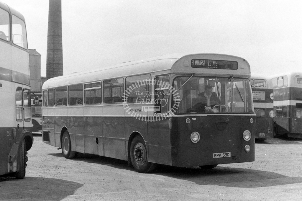 Red Rover AEC Swift 101 EPP59G at Aylesbury in 1977 - JGS Smith