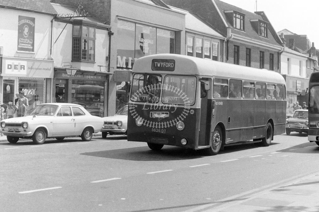 Red Rover AEC Reliance 112 8626DT at Aylesbury in 1977 - JGS Smith