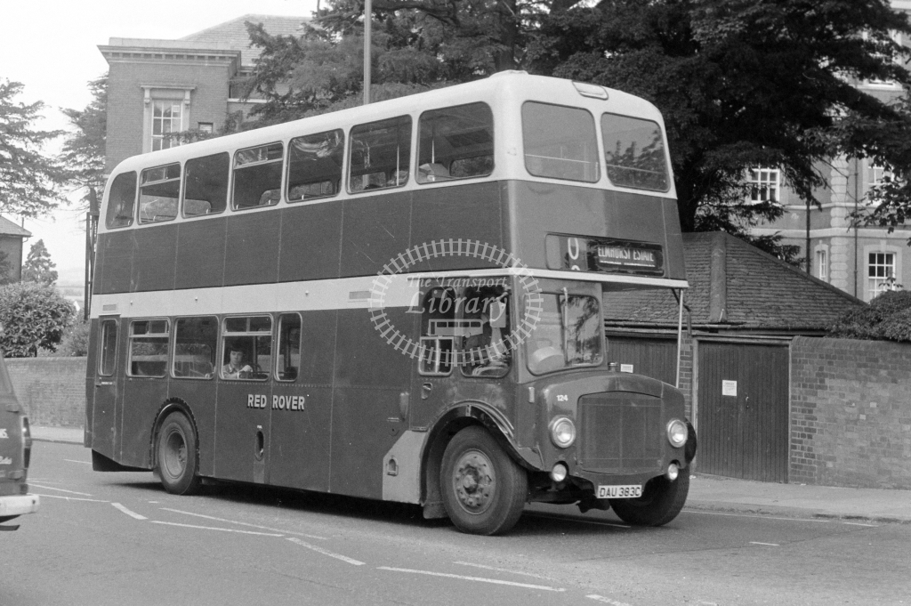 Red Rover AEC Renown 124 DAU383C at Aylesbury in 1977 - JGS Smith
