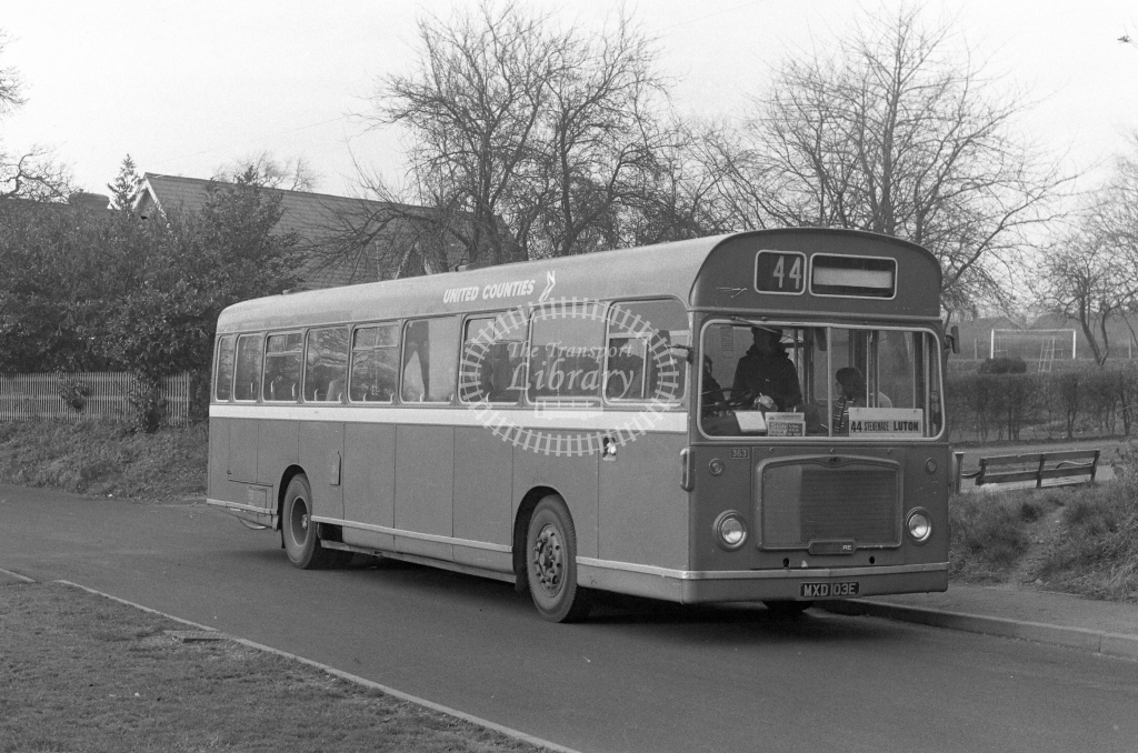 United Counties Bristol RELL6L  on route 44 MXD103E  in 1979 - JGS Smith