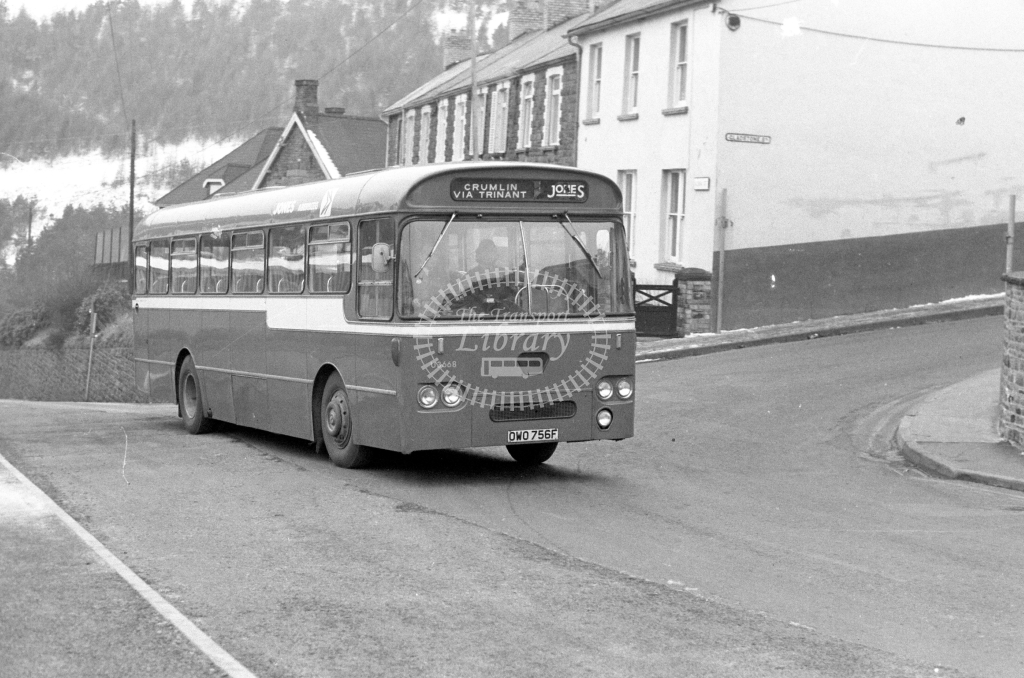 Jones, Aberbeeg Leyland PSU OWO756F  at Abertillery  in 1979 - JGS Smith
