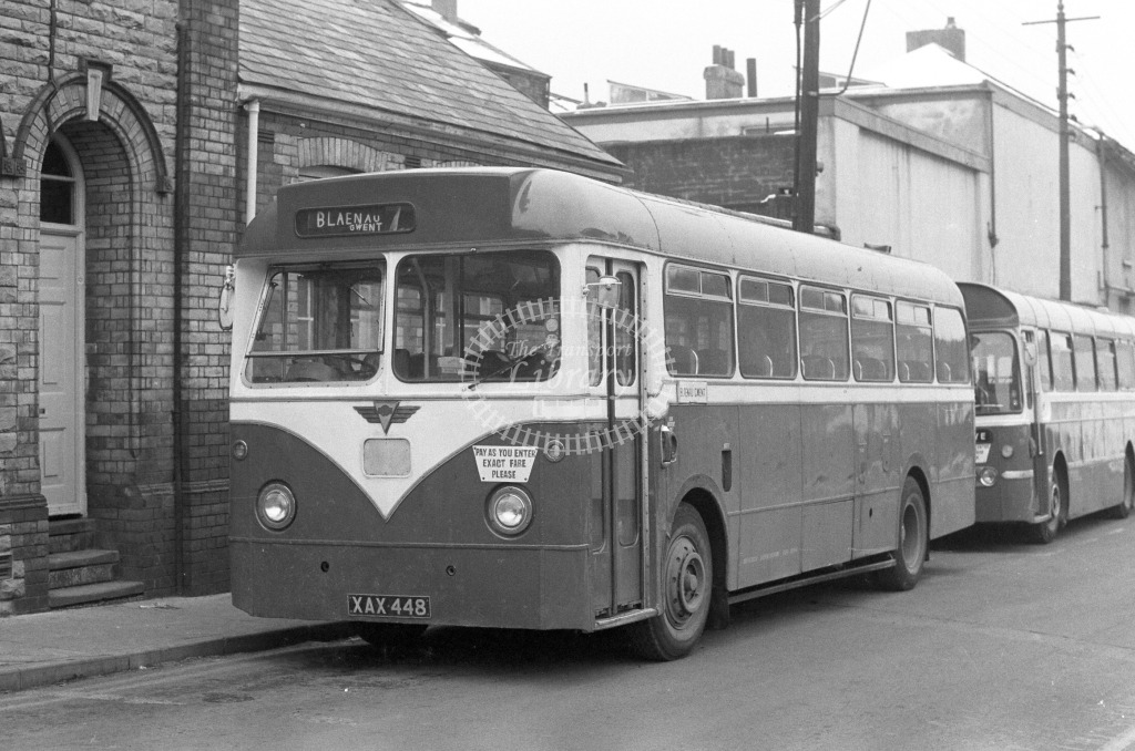 Jones, Aberbeeg AEC Reliance XAX448  in 1979 - JGS Smith
