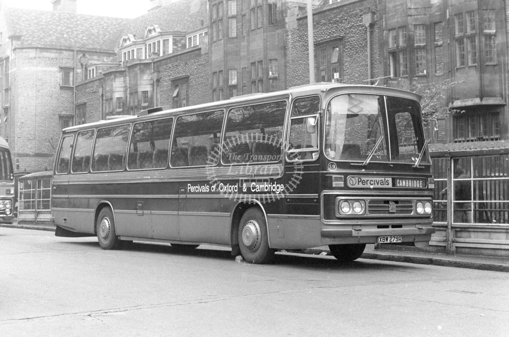 Percival's Bedford YMT 59 XBW279R  at Cambridge  in 1977 - JGS Smith