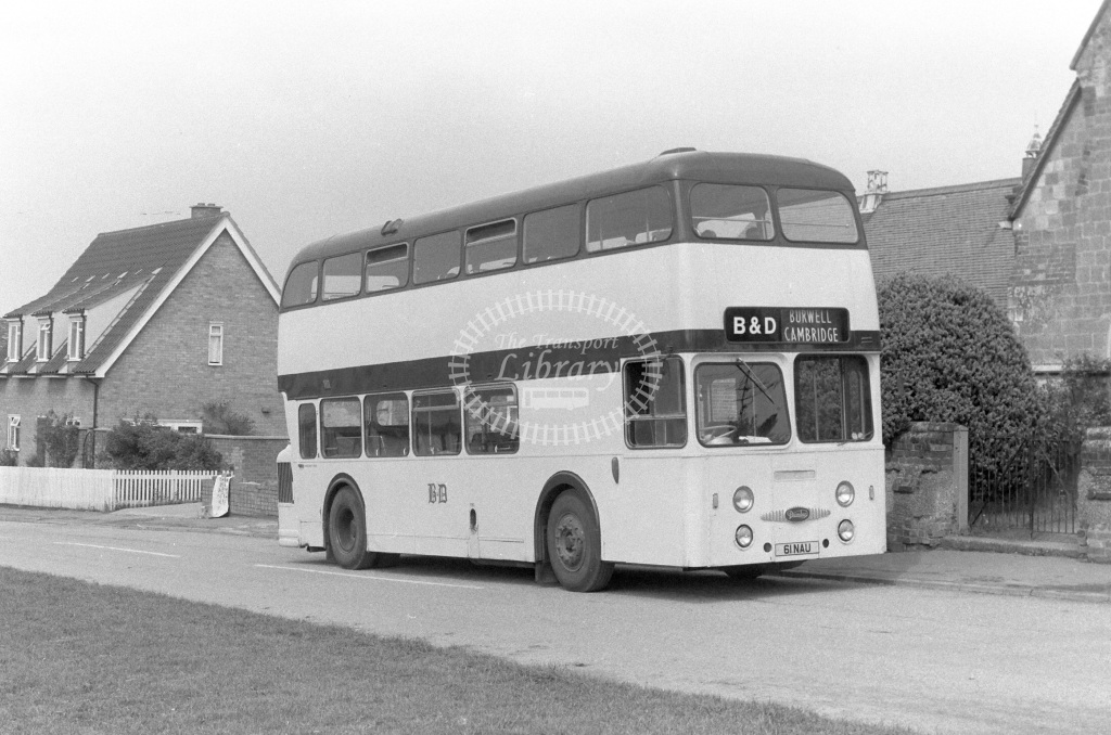 Burwell & District Daimler Fleetline 61NAU  in 1977 - JGS Smith