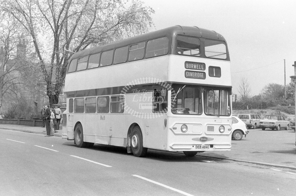 Burwell & District Daimler Fleetline DEB484C  in 1977 - JGS Smith