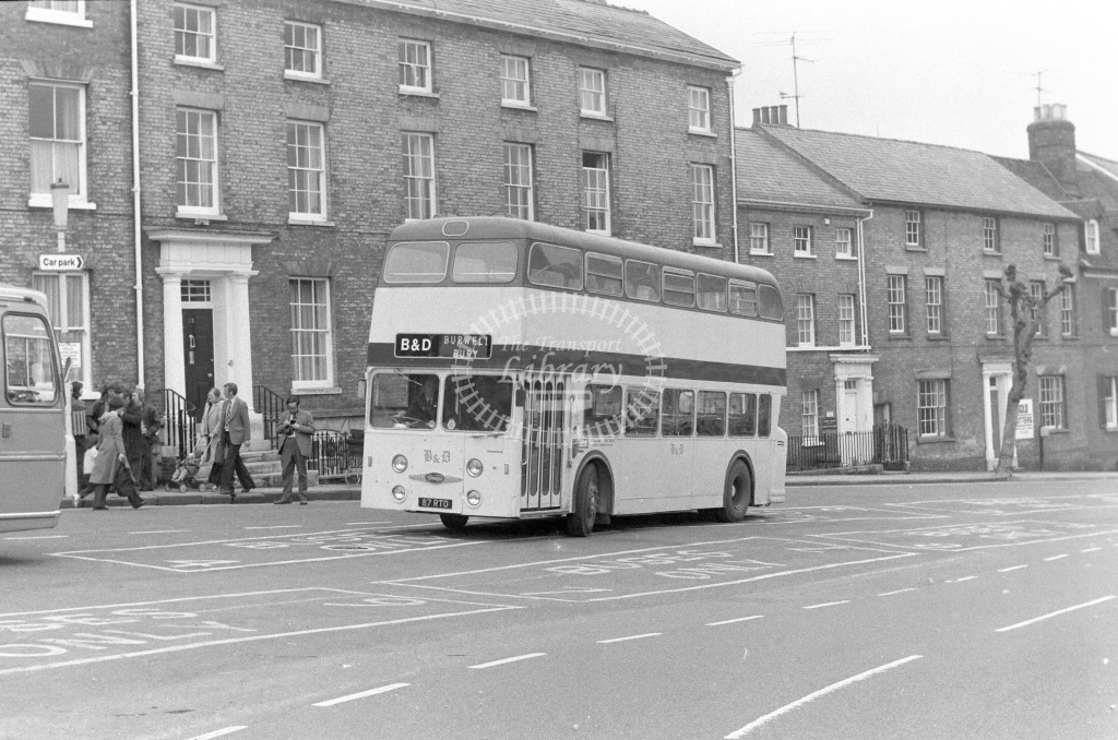 Burwell & District Daimler Fleetline 87RTO  in 1977 - JGS Smith