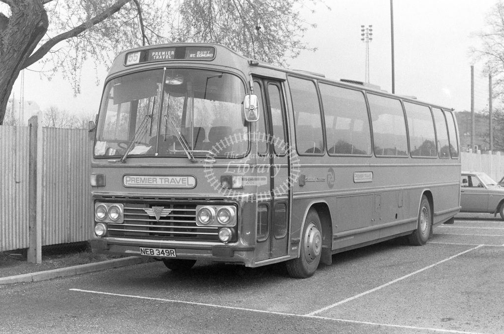 Premier Travel AEC Reliance NEB349R  in 1977 - JGS Smith