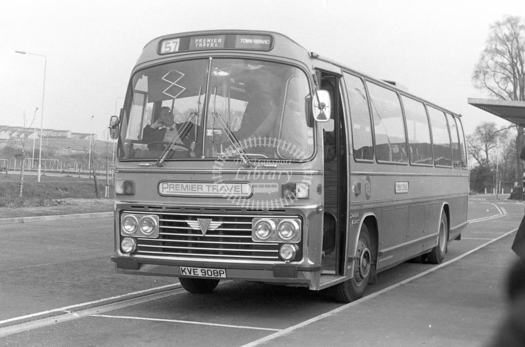 Premier Travel AEC Reliance KVE908P  in 1977 - JGS Smith