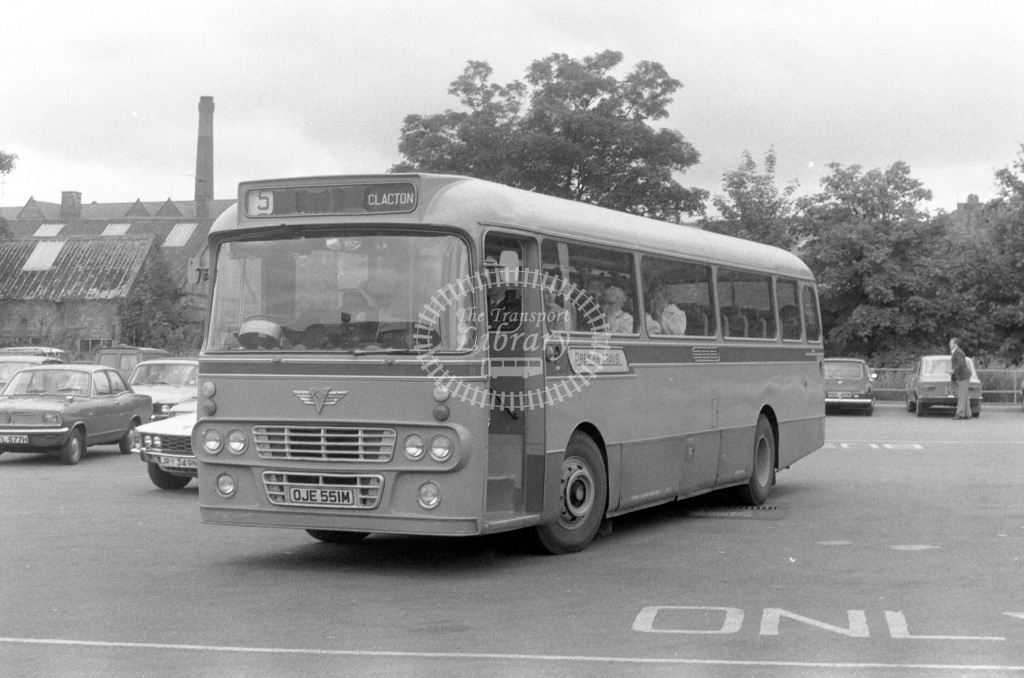 Premier Travel AEC Reliance OJE551M  in 1977 - JGS Smith