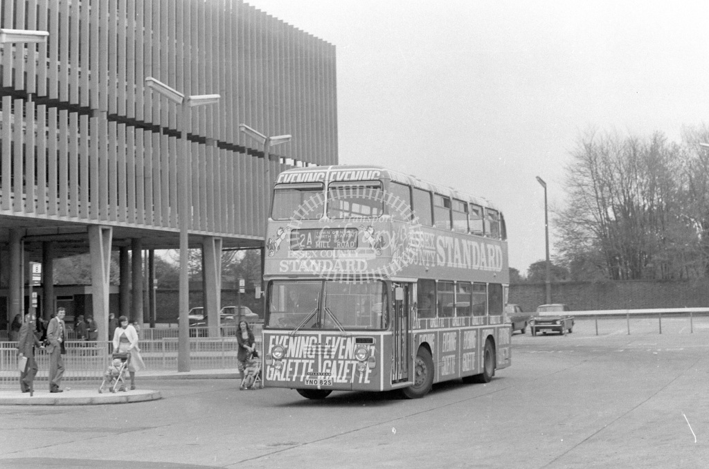 Colchester Leyland Atlantean YNO82S  at Colchester  in 1979 - JGS Smith