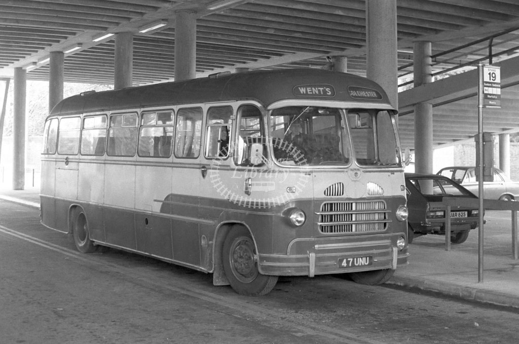 Went's Bedford SB1 47UNU  at Colchester  in 1979 - JGS Smith