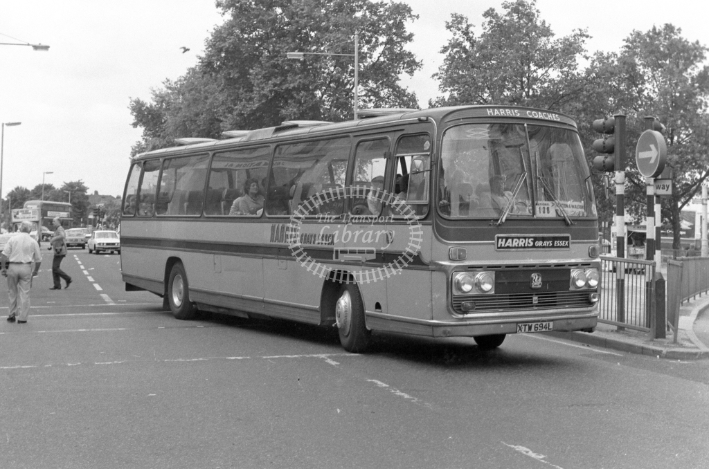 Harris, Grays Bedford YRT XTW694L  at Catford  in 1979 - JGS Smith