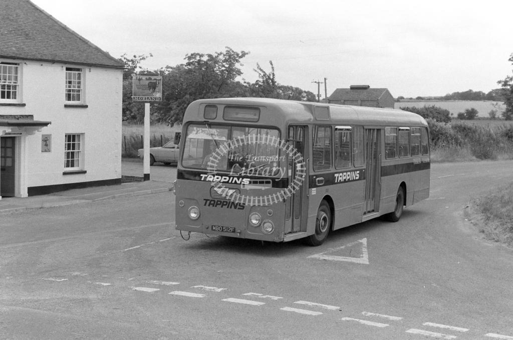 Tappins AEC Swift MBO512F  in 1979 - JGS Smith