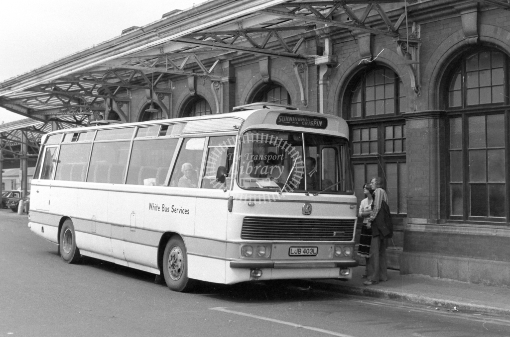 White Bus Services Bedford YRQ LJB403L  in 1979 - JGS Smith