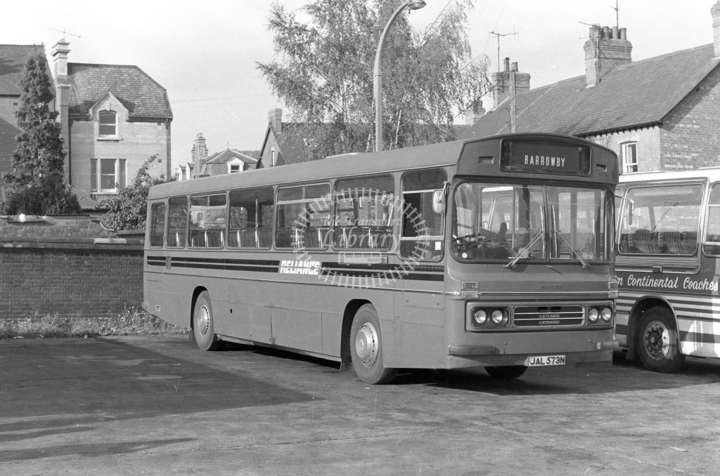 Reliance Leyland Leopard JAL573N  in 1979 - JGS Smith