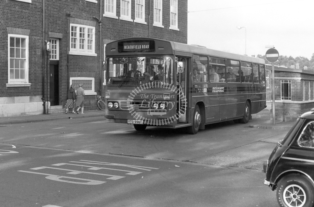 Reliance Leyland Leopard YTO996T  in 1979 - JGS Smith