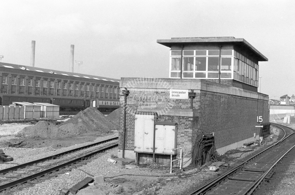 British Rail Signal Box  at Doncaster South  in 1979 - JGS Smith