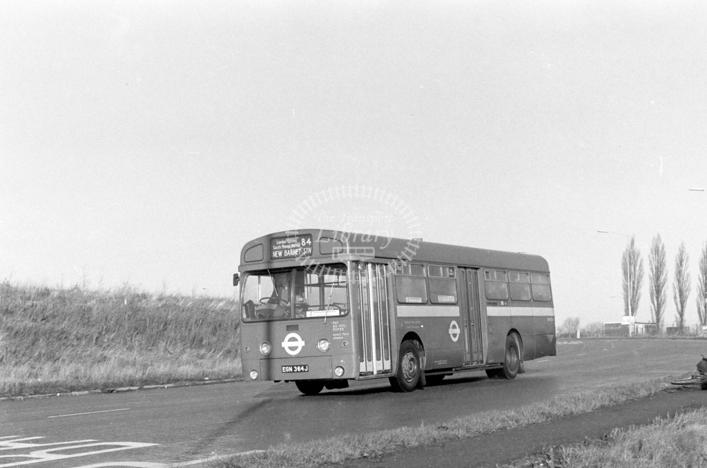 London Transport AEC Swift SMS364  on route 84 EGN364J  in 1979 - JGS Smith