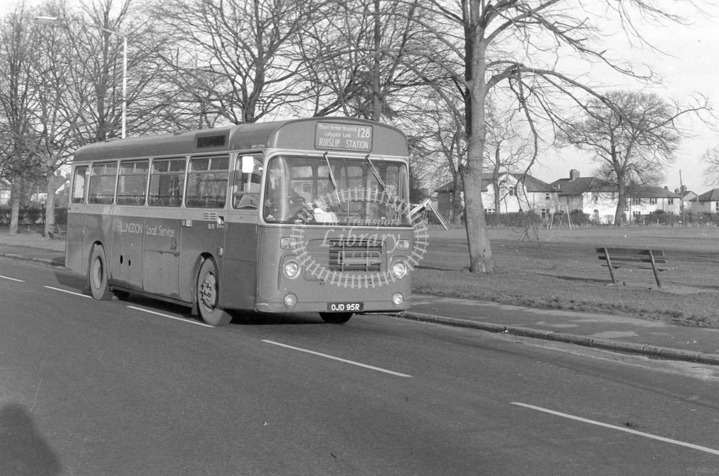 London Transport Bristol LH BL95  on route 128 OJD95R  in 1979 - JGS Smith