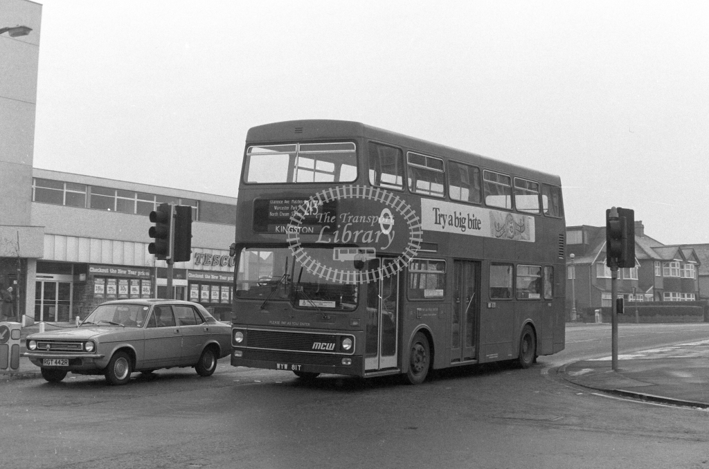 London Transport MCW Metrobus M81  on route 213A WYW81T  in 1980 - JGS Smith