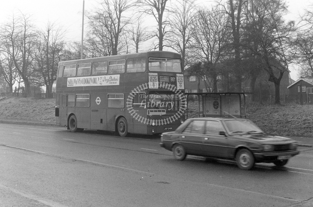 London Transport Daimler Fleetline DMS248  on route 80A JGF248K  in 1980 - JGS Smith
