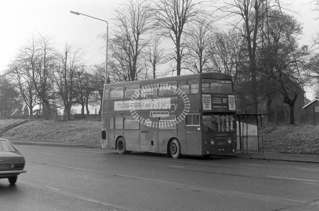 London Transport Daimler Fleetline DMS66  on route 80 EGP66J  in 1980 - JGS Smith