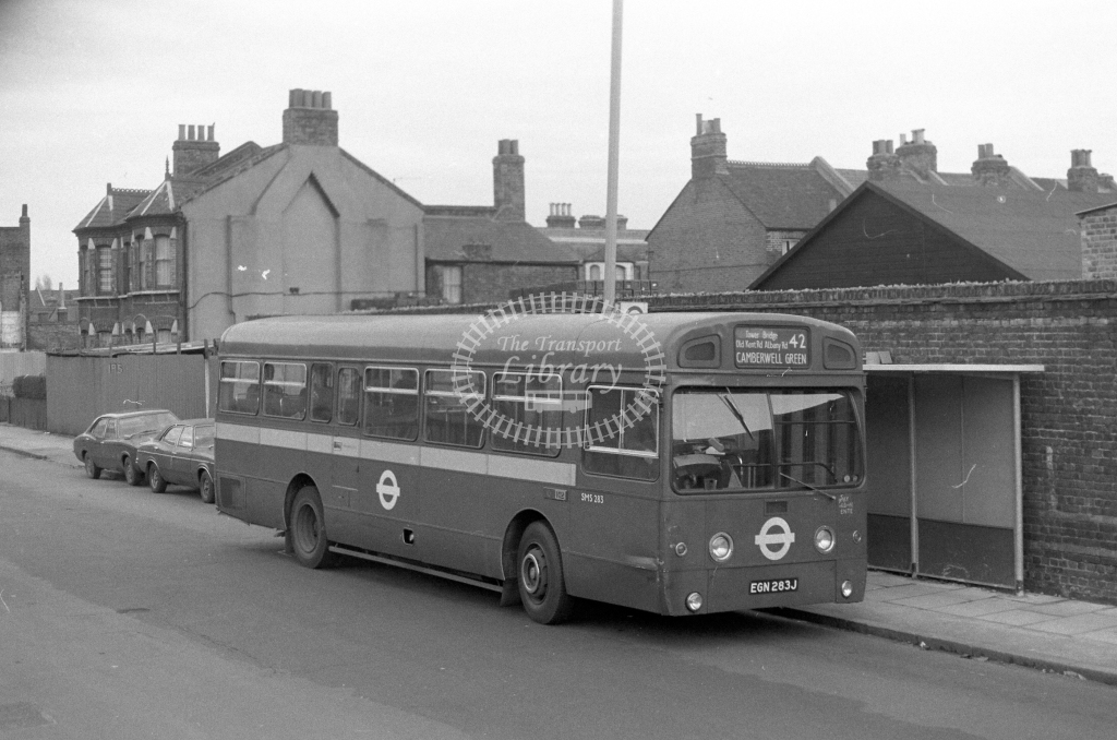 London Transport AEC Swift SMS283  on route 42 EGN283J  in 1980 - JGS Smith