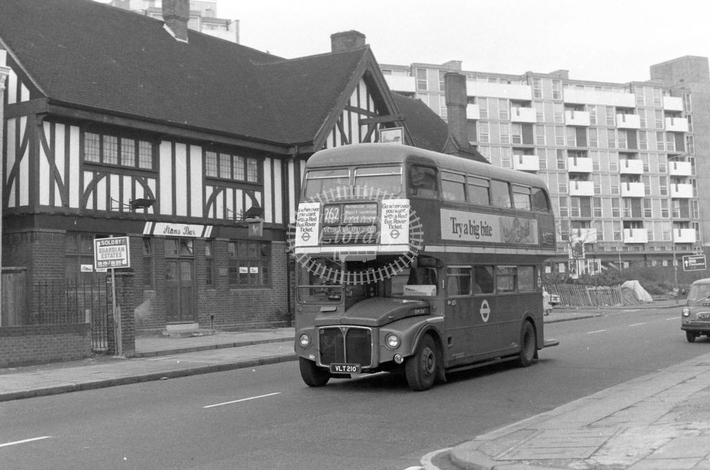 London Transport AEC Routemaster RM210  on route 262 VLT210  in 1980 - JGS Smith