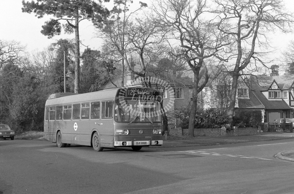 London Transport Leyland National LS96  on route 126 OJD896R  in 1980 - JGS Smith