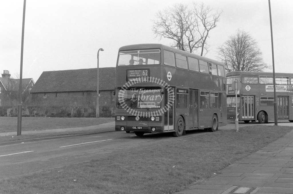 London Transport Leyland Titan T112  on route 62 CUL112V  in 1980 - JGS Smith
