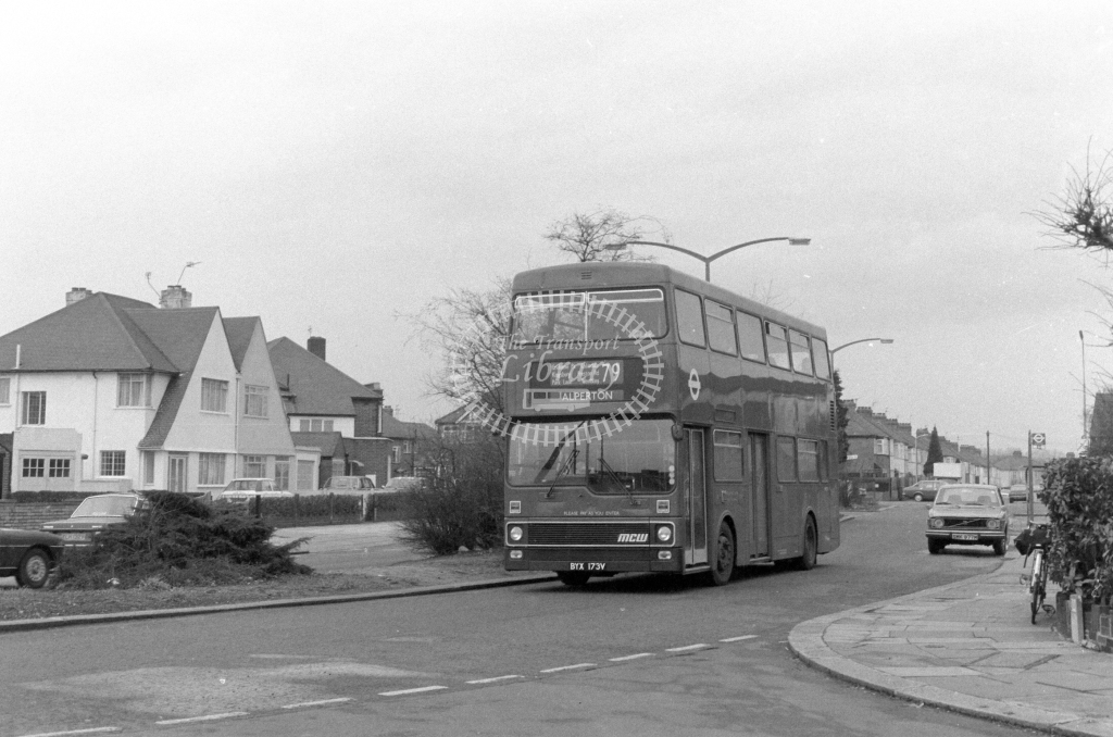 London Transport MCW Metrobus M173  on route 79 BYX173V  at Kenton  in 1980 - JGS Smith