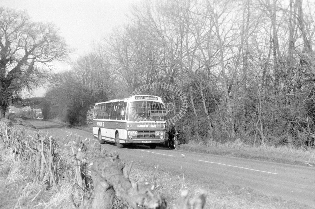 London Country AEC Reliance RS43  on route 722 XPK43T  in 1980 - JGS Smith