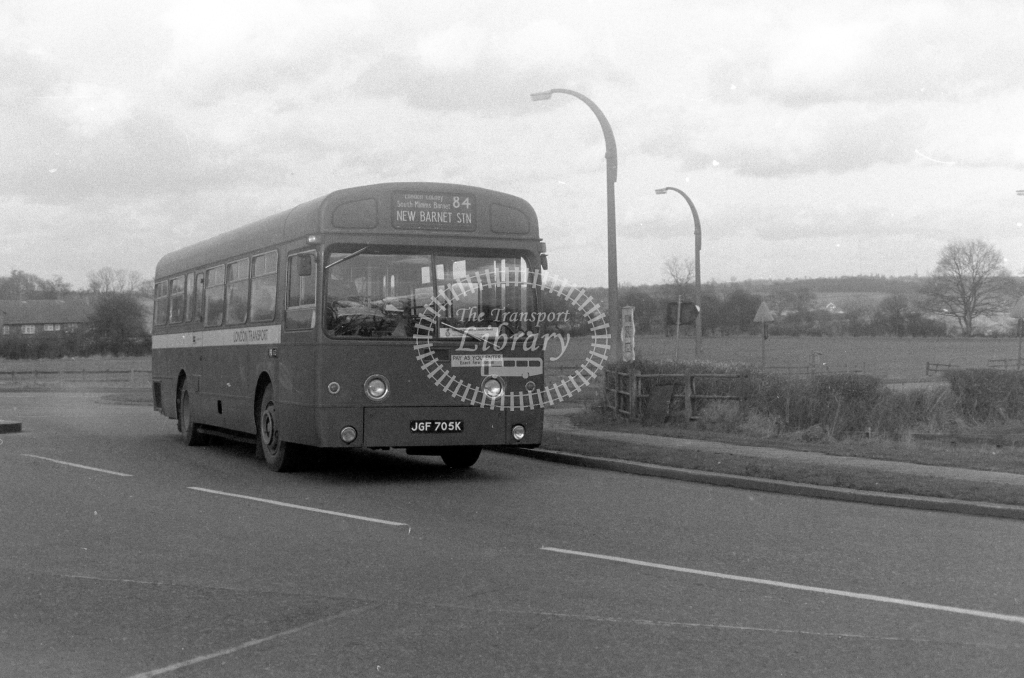 London Transport AEC Swift SMS705  on route 84 JGF705K  in 1980 - JGS Smith