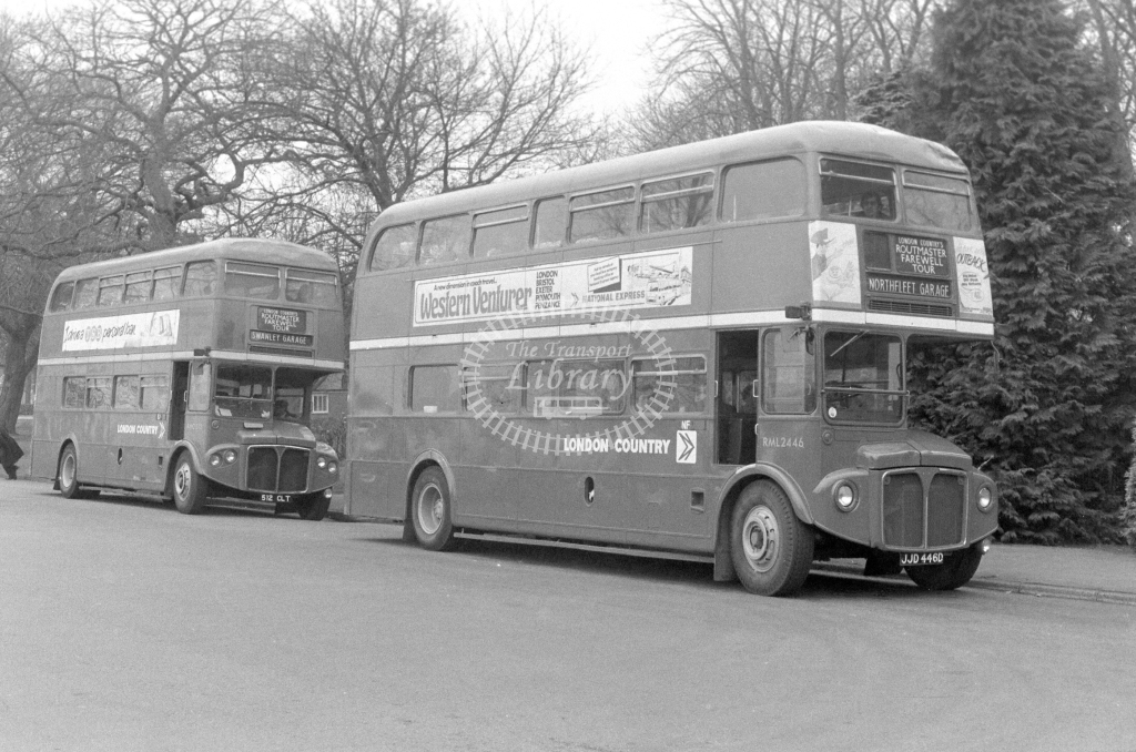 London Country AEC Routemaster RML2446 JJD446D  in 1980 - JGS Smith