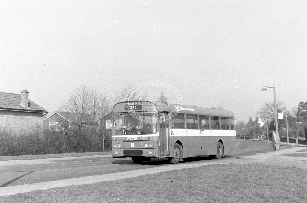 London Country AEC Reliance RP47  on route 393 JPA147K  in 1980 - JGS Smith