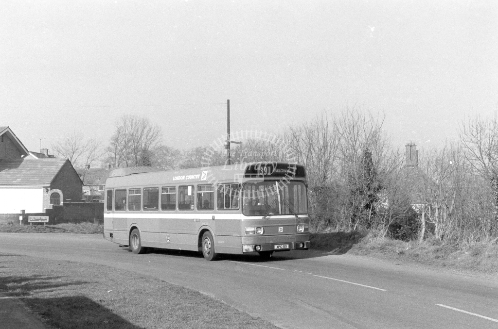London Country Leyland National SNB355  on route 391 XPC15S  at Harlow  in 1980 - JGS Smith