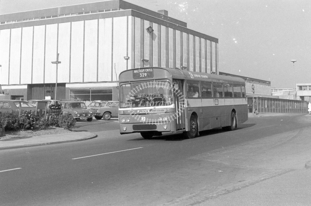 London Country AEC Reliance RP43  on route 329 JPA143K  at Harlow  in 1980 - JGS Smith
