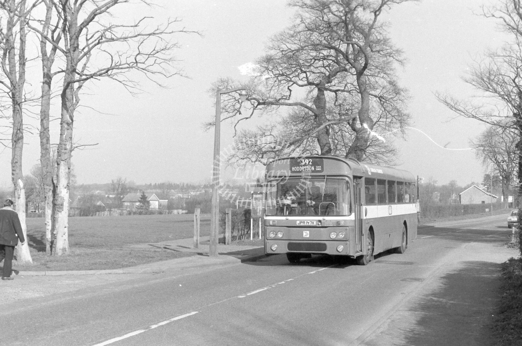 London Country AEC Reliance RP47  on route 392 JPA147K  in 1980 - JGS Smith