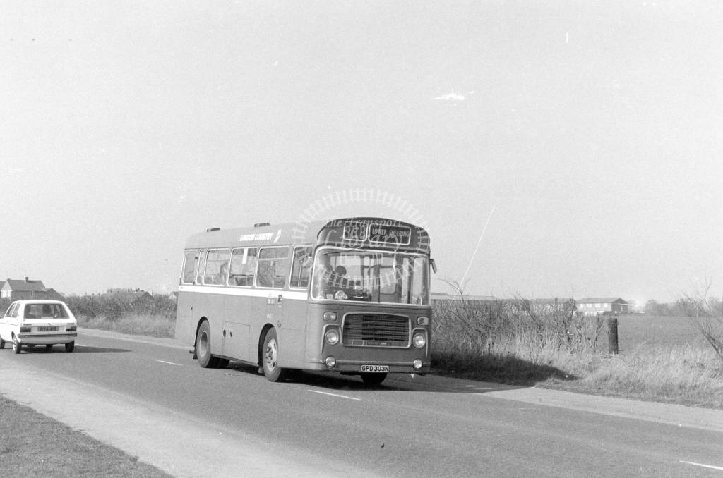 London Country Bristol LH BN35  on route 338 GPD303N  in 1980 - JGS Smith