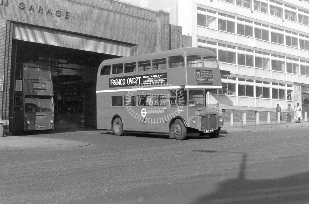 London Transport AEC Routemaster RM476  on route 29 WLT476  at Wood Green  in 1980 - JGS Smith