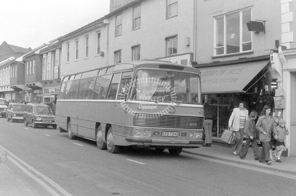 Unknown Operator Bedford VAL RTD759G  at Stowmarket  in 1980 - JGS Smith