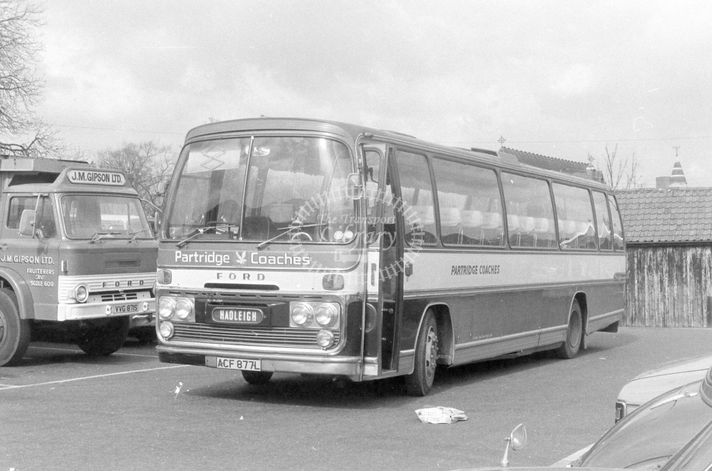 Partridge Coaches Ford R226 ACF877L  in 1980 - JGS Smith