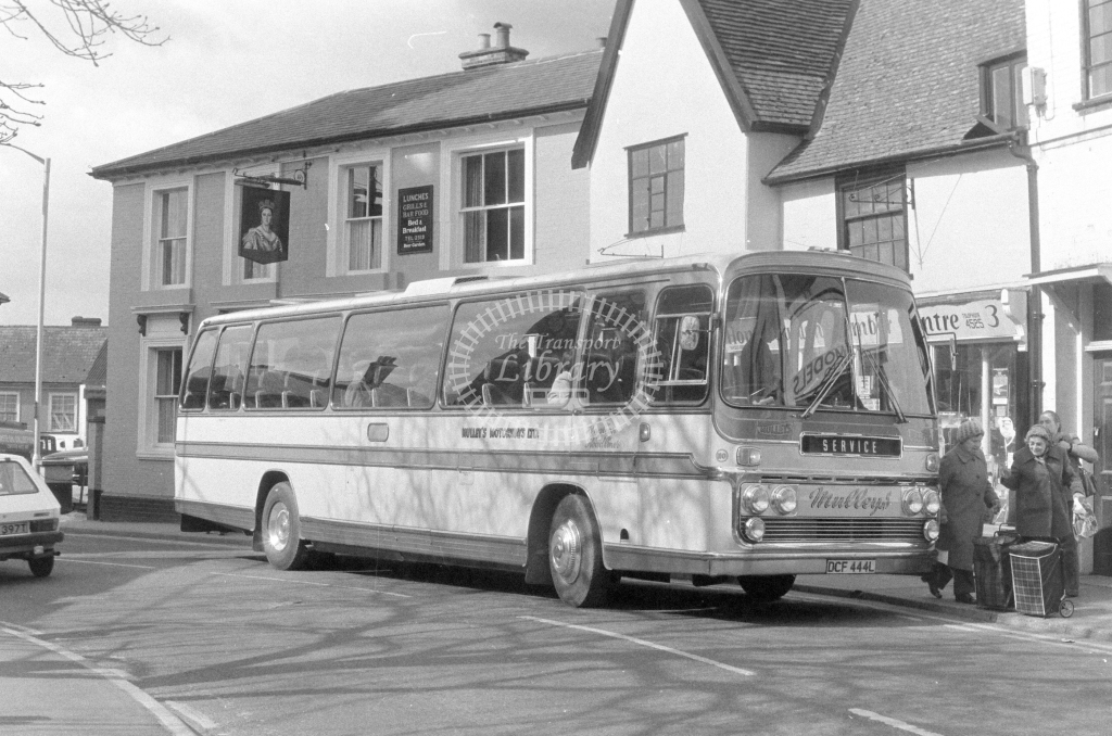 Mulley's Bedford YRT DCF444L  at Stowmarket  in 1980 - JGS Smith
