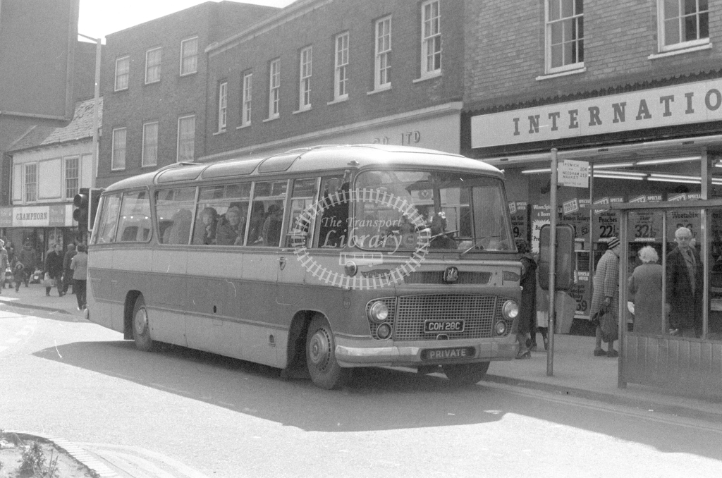 Unknown Operator Bedford SB COH28C  at Stowmarket  in 1980 - JGS Smith