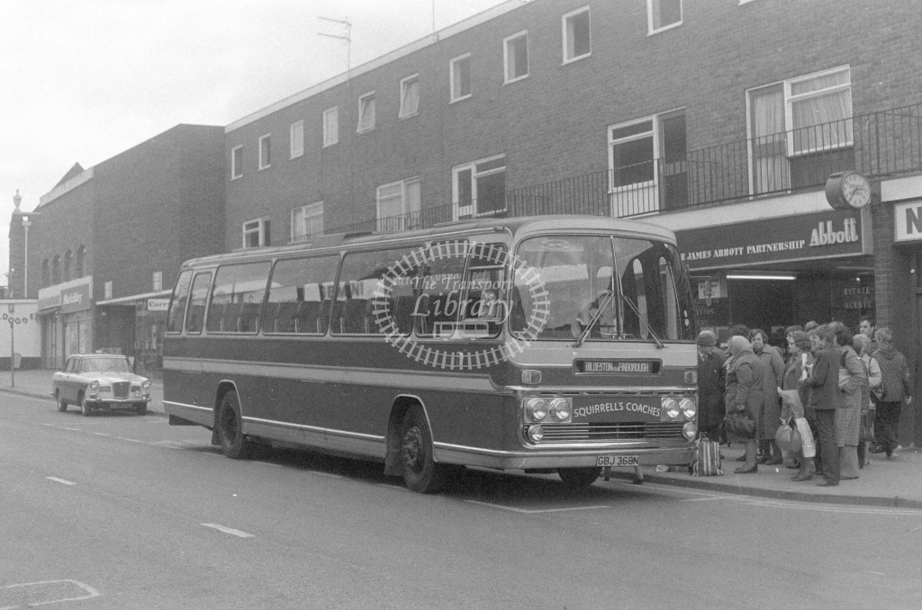 Squirrell's Coaches Bedford YRT GBJ368N  in 1980 - JGS Smith