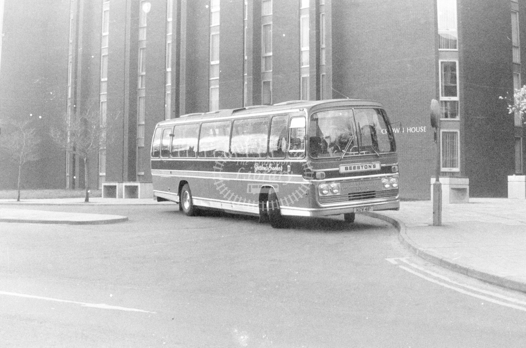 Beestons Bedford YRT KGV41P  at Ipswich  in 1980 - JGS Smith