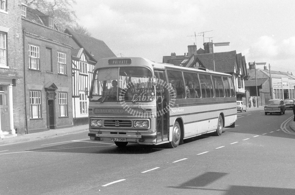 Sayers Coaches Bedford YMT PBJ706R  in 1980 - JGS Smith