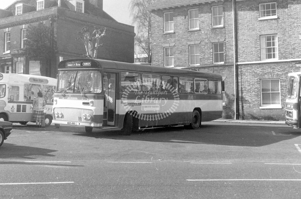 H C Chambers Bedford YMT ADX49S  at Bury St Edmunds  in 1980 - JGS Smith