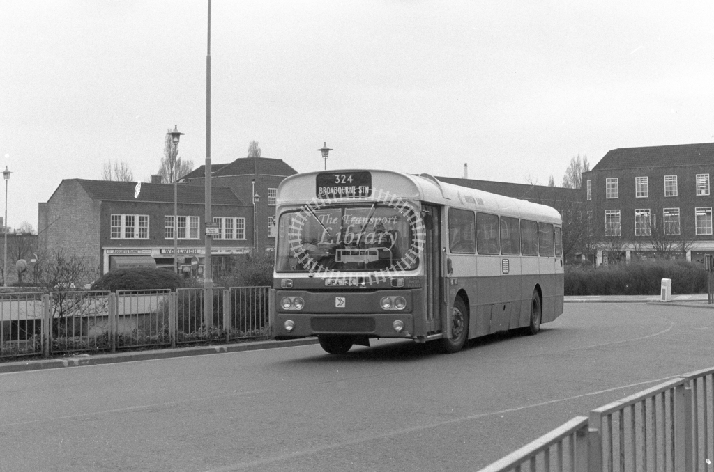 London Country AEC Reliance RP13  on route 324 JPA113K  at Welwyn Garden City  in 1980 - JGS Smith